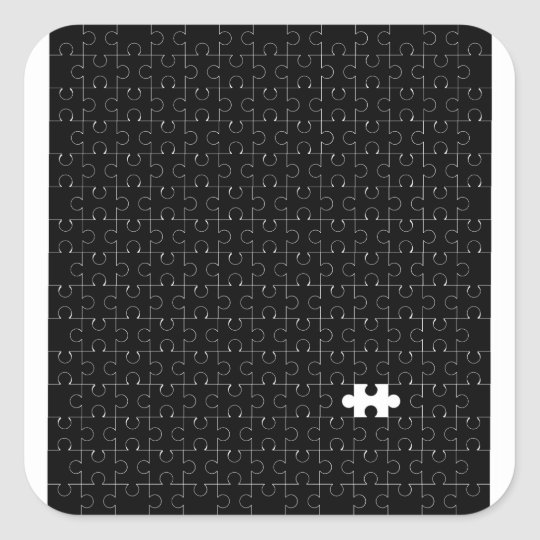 Missing Piece Square Sticker