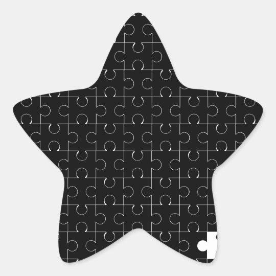 Missing Piece Star Sticker