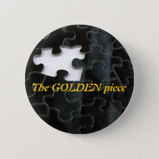 Missing Puzzle Piece 2 Inch Round Button