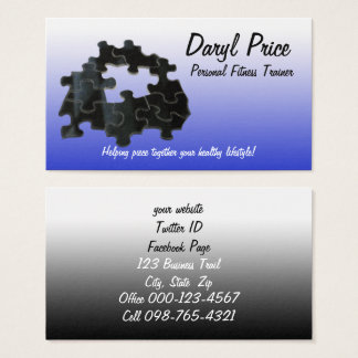 Missing Puzzle Piece Business Card