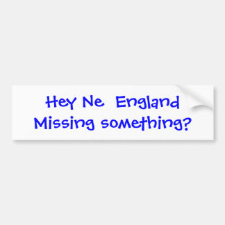 Missing Something? Bumper Sticker