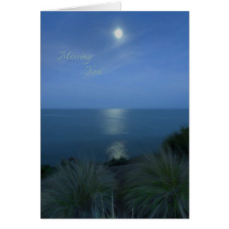 Missing you by moonlight card