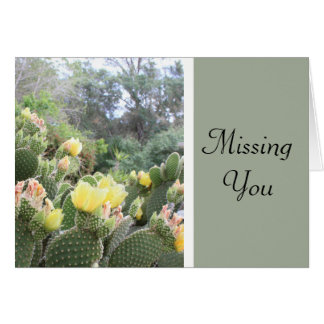 Missing You Cactus Note Card