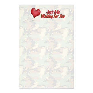 Missing You Camouflage Stationery