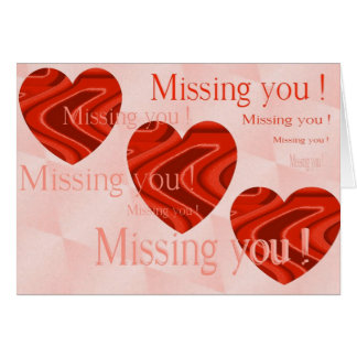 missing you card