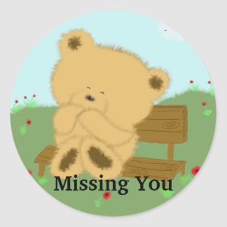 , Missing You Classic Round Sticker