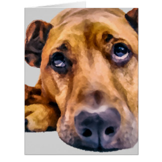 Missing You Dog For Any Occasion Card