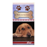 Missing you dog photo template personalized photo card