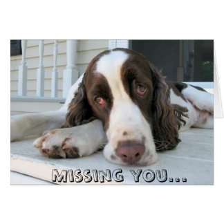 Missing you - greeting card