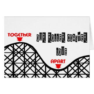 Missing You Roller Coaster Card