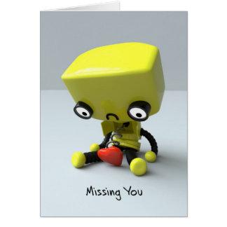 Missing You - Sad Robot Card