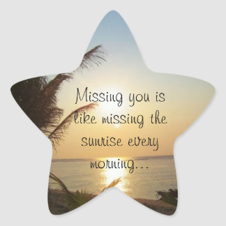 Missing You Star Sticker