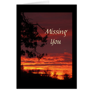 Missing You Sunset Note Card