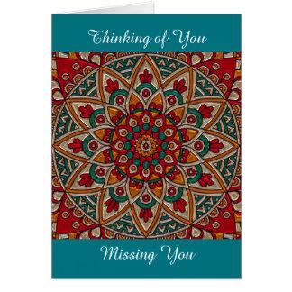Missing You, Thanking of You, Mandala Card