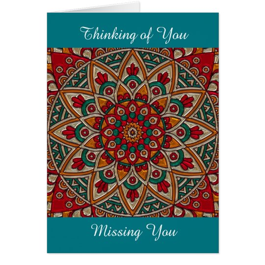 Missing You, Thanking of You, Mandala Card