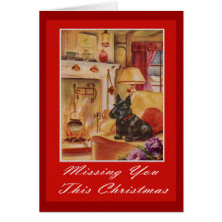 missing you this christmas card