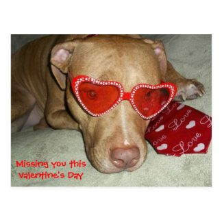 Missing you this valentine's day postcard