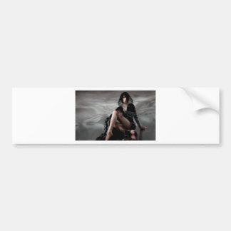 Missing You Veiled Goth Woman Bumper Sticker