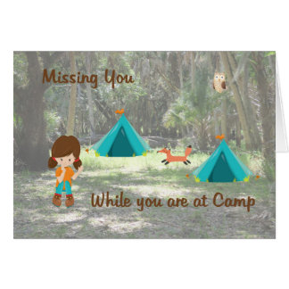 Missing  Your Daughter Card while at Summer Camp