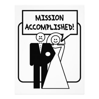 """Mission Accomplished"" Marriage Customized Letterhead"