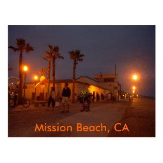 Mission Beach, CA Postcard