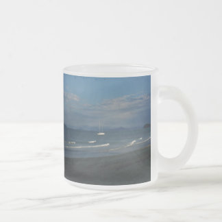 Mission Beach Frosted Glass Mug