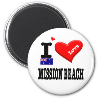 MISSION BEACH - I Love Magnet