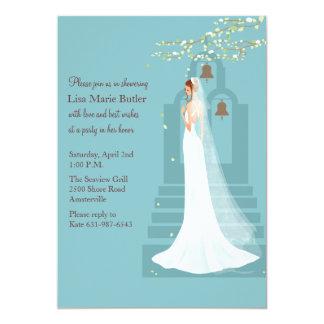 Mission Bells Bridal Shower Invitation