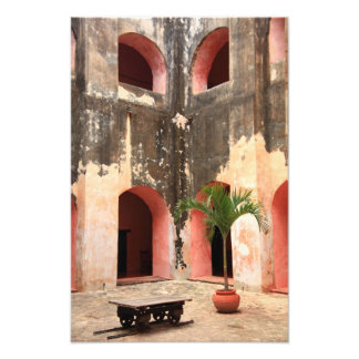Mission Courtyard Photo Print