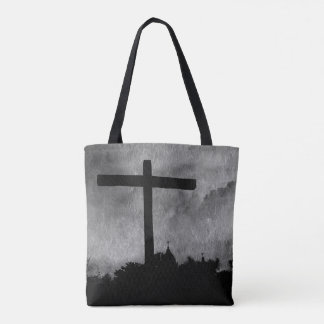 Mission Cross All-Over print cross body tote
