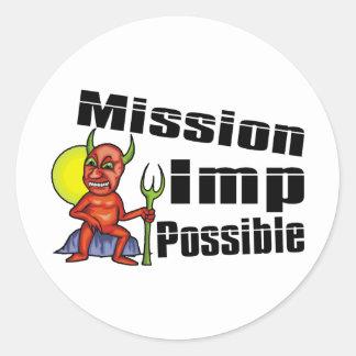 Mission Imp Possible Round Sticker