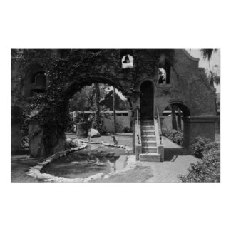 Mission Inn Courtyard of Riverside, CA Photograp Poster