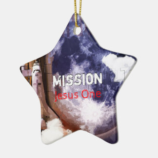 Mission Jesus One Ceramic Ornament