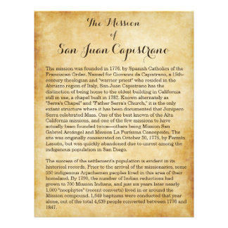 Mission of San Juan Capistrano Personalized Flyer