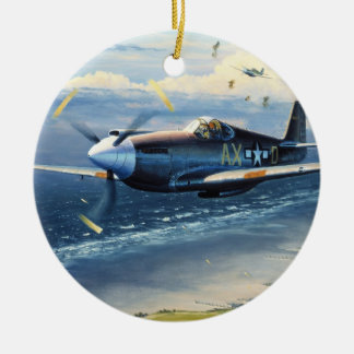 Mission Over Normandy by William S. Phillips Ceramic Ornament