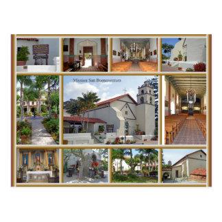 Mission San Buenaventura Postcard