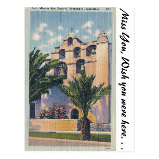 Mission San Gabriel, California Postcard