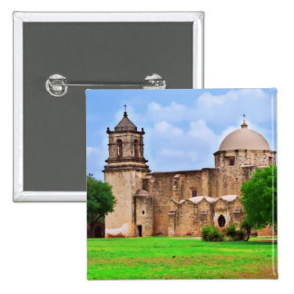 Mission San José Church 2 Inch Square Button