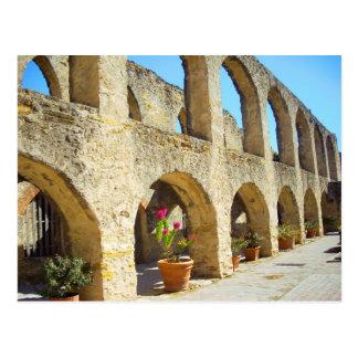 Mission San Jose convent arches, San Antonio, TX Postcard