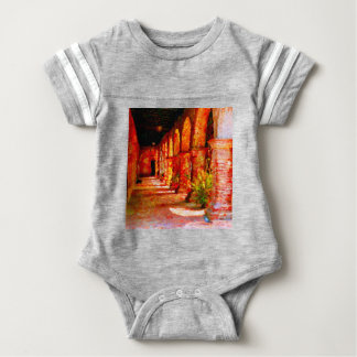 Mission San Juan Capistrano California Abstract Baby Bodysuit