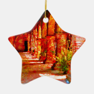 Mission San Juan Capistrano California Abstract Ceramic Ornament