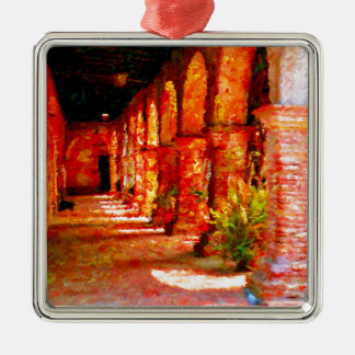 Mission San Juan Capistrano California Abstract Metal Ornament