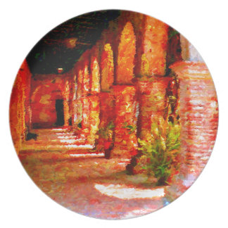Mission San Juan Capistrano California Abstract Plate