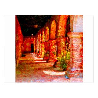 Mission San Juan Capistrano California Abstract Postcard