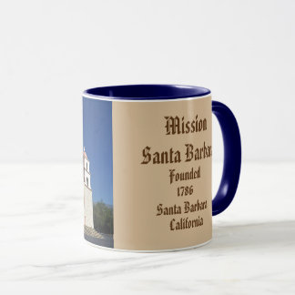 Mission Santa Barbara Panoramic Mug