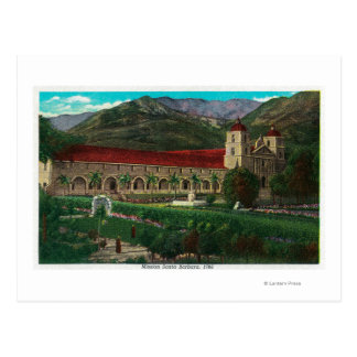 Mission Santa Barbara Postcard