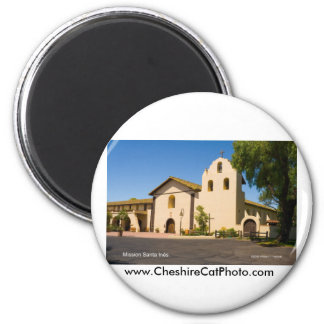 Mission Santa Inés California Products 2 Inch Round Magnet