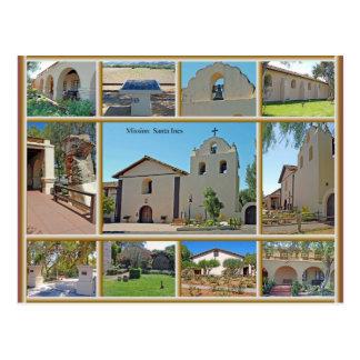 Mission Santa Ines Postcard