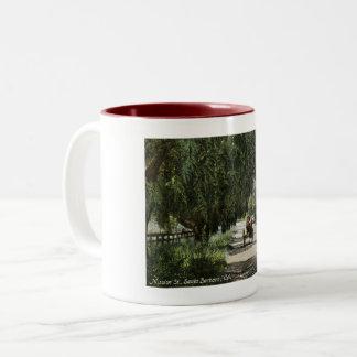 Mission St., Santa Barbara, California Vintage Two-Tone Coffee Mug