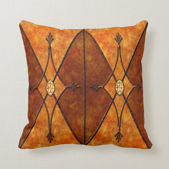 Mission style faux Mica and metal pillow